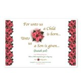 Unto Us A Child Is Born4 Postcards (Package of 8)