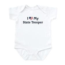 I Love My State Trooper Infant Bodysuit