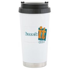 Knock It Off Stainless Steel Travel Mug