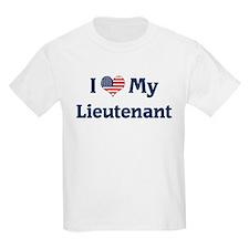 I Love My Lieutenant Kids T-Shirt