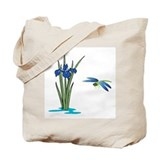Dragonfly Iris Tote Bag
