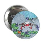 crab and sea urchins Button