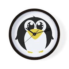 Closeup Penguin (bl) Wall Clock