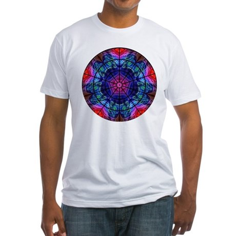 Kaleidoscope Fractal 008 Fitted T-Shirt