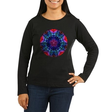 Kaleidoscope Fractal 008 Women's Long Sleeve Dark