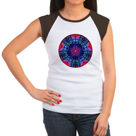 Kaleidoscope Fractal 008 Women's Cap Sleeve T-Shir