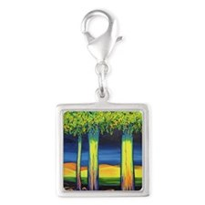 Sunrise Silver Square Charm