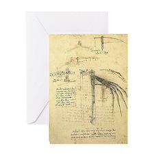 Flying Machine by Leonardo da Vinci Greeting Card