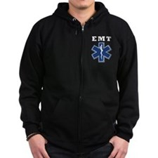 EMT Blue Star Of Life* Zipped Hoodie