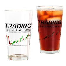 Cute Finance Drinking Glass