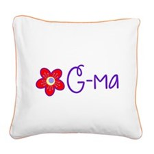 My Fun G-ma Square Canvas Pillow