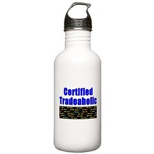 Certified tradeaholic Water Bottle