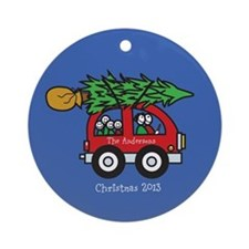 Personalized Family Christmas Ornament 4 kids