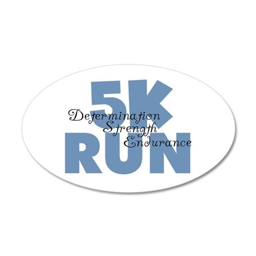 5K Run Blue 20x12 Oval Wall Decal