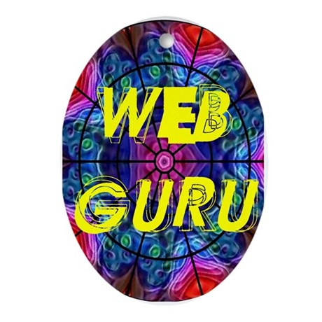 Web Guru Oval Ornament