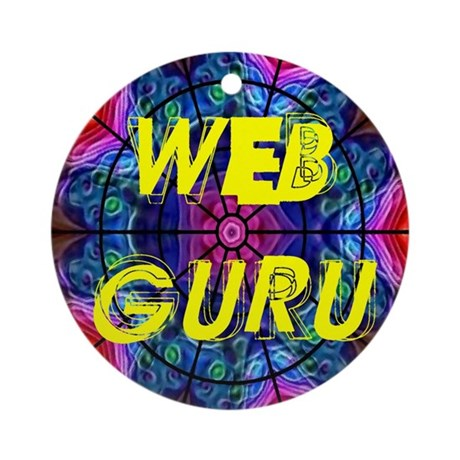 Web Guru Ornament (Round)