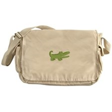 Cutest Green Alligator Messenger Bag