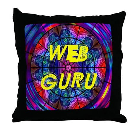Web Guru Throw Pillow