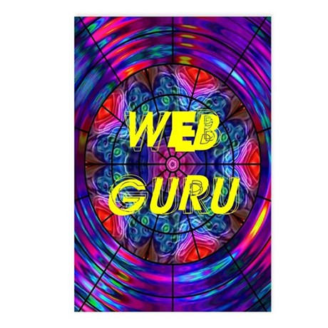 Web Guru Postcards (Package of 8)