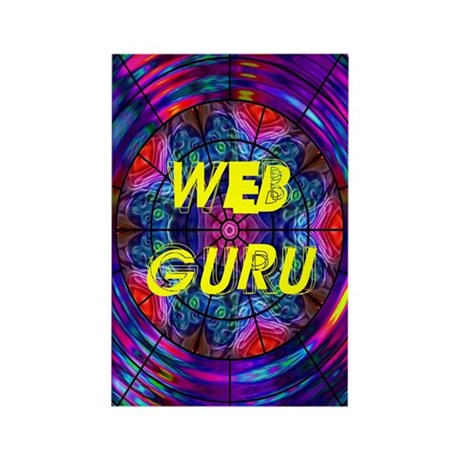 Web Guru Rectangle Magnet