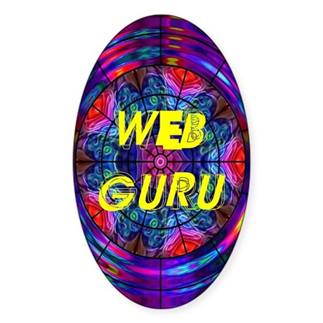 Web Guru Oval Sticker
