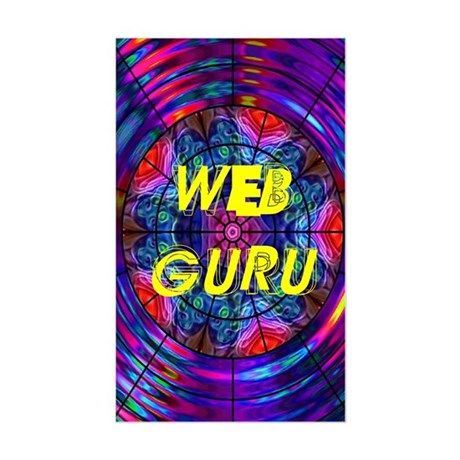 Web Guru Rectangle Sticker