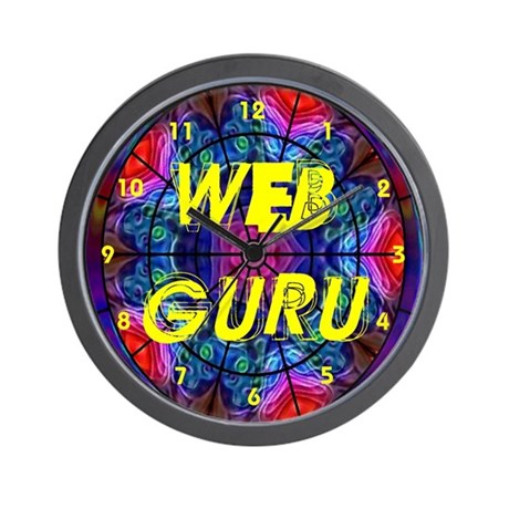 Web Guru Wall Clock