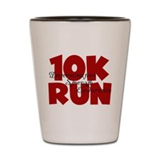 10K Run Red Shot Glass