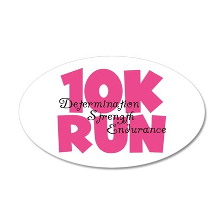 10K Run Pink 20x12 Oval Wall Decal