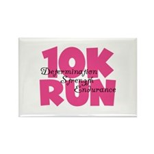 10K Run Pink Rectangle Magnet (10 pack)
