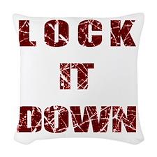 Lock it Down Woven Throw Pillow