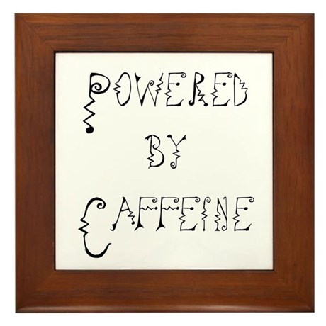 Powered by Caffeine Framed Tile