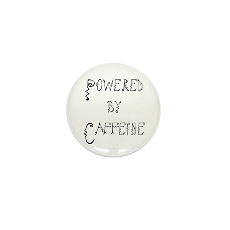 Powered by Caffeine Mini Button (10 pack)