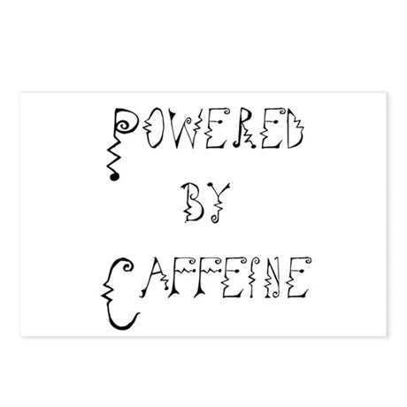 Powered by Caffeine Postcards (Package of 8)