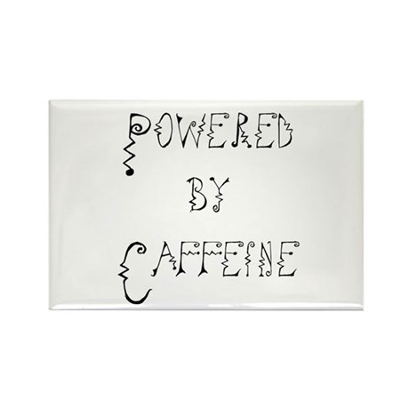 Powered by Caffeine Rectangle Magnet