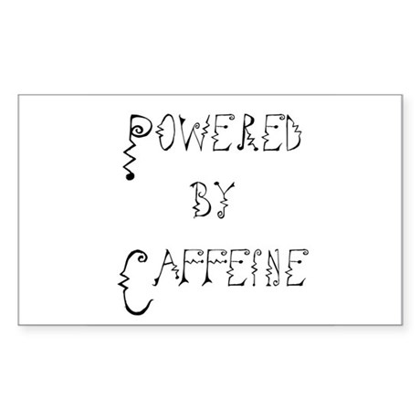 Powered by Caffeine Rectangle Sticker