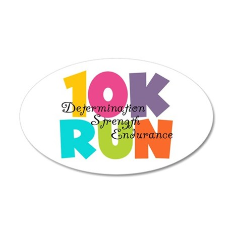 10K Run Multi-Colors 20x12 Oval Wall Decal