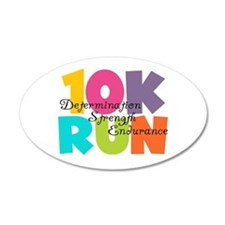10K Run Multi-Colors Wall Decal