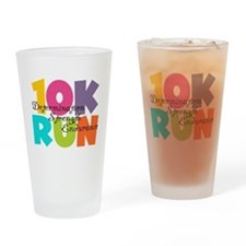 10K Run Multi-Colors Drinking Glass
