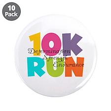 "10K Run Multi-Colors 3.5"" Button (10 pack)"