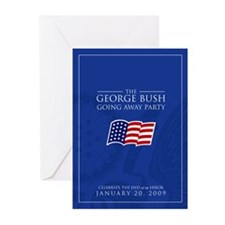 Cute Bush's last day Greeting Cards (Pk of 10)
