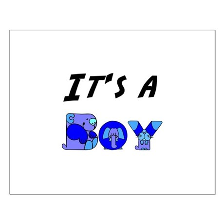 It's a BOY Small Poster