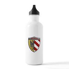 Nuremberg Germany Metallic Shield Water Bottle