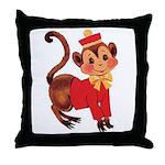 Circus Monkey Throw Pillow