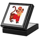 Circus Monkey Keepsake Box
