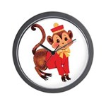 Circus Monkey Wall Clock