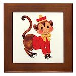 Circus Monkey Framed Tile