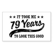 Funny 79th Birthday Decal