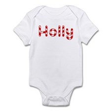 Holly - Candy Cane Infant Bodysuit