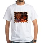 Candle Lighting White T-Shirt